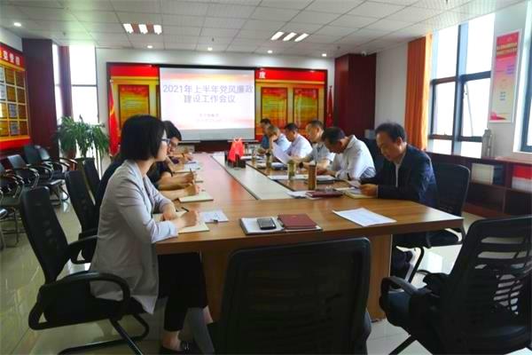 市交旅集团召开2021年上半年党风廉政建设工作会议