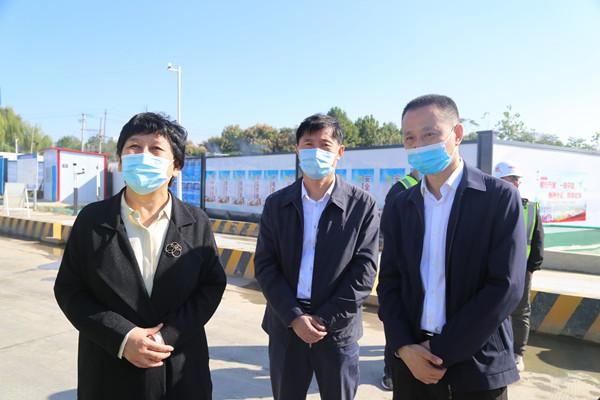 市领导调研宿州站改建工程建设情况